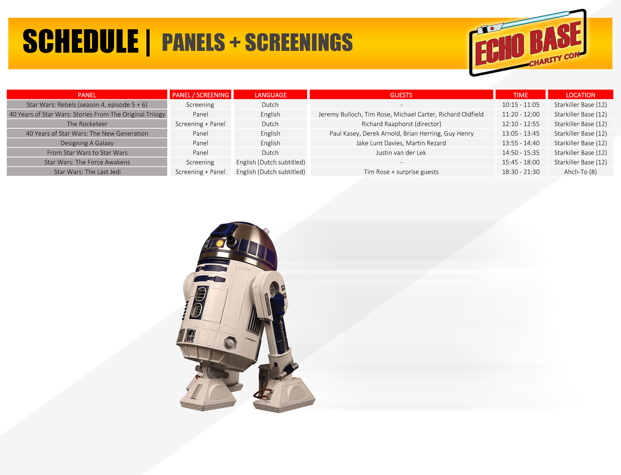 Panels + screenings