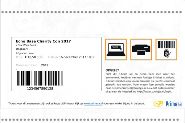 kaartverkoop Echo Base Charity Con gestart